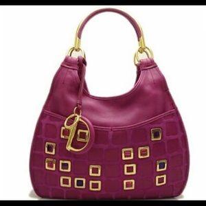 Christian Dior purple pink bejewelled bag